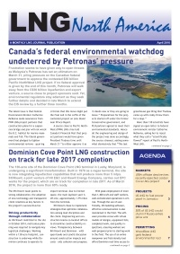 LNG North America – April 2016