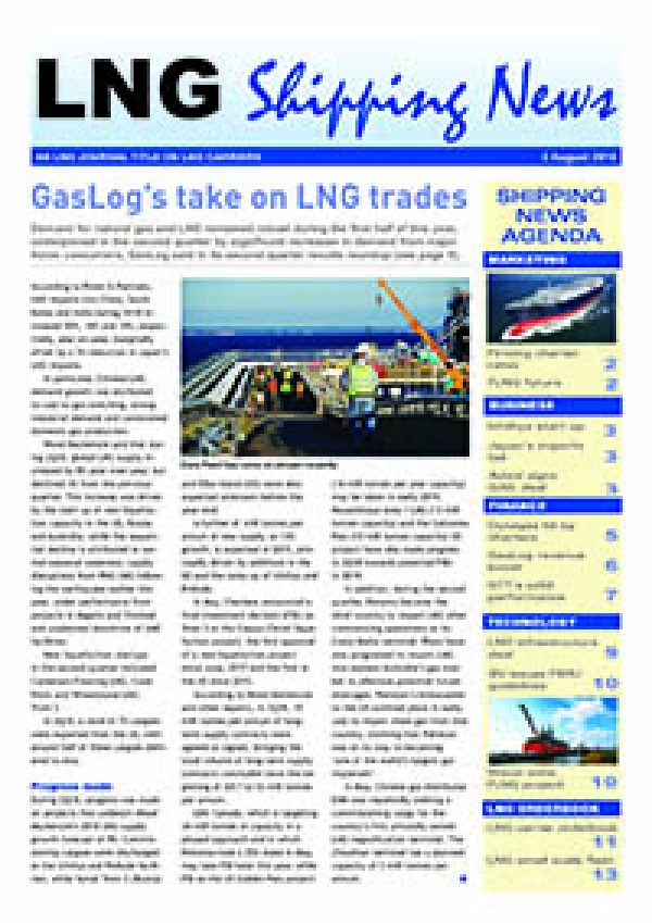 LNG Shipping News - 2 August 2018