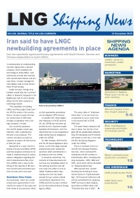 LNG Shipping News - 12 November 2015