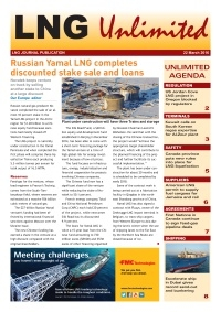 LNG Unlimited – 22 March 2016