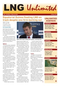 LNG Unlimited – 10 May 2016