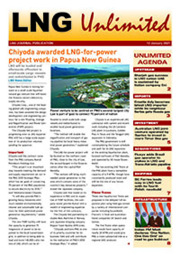 LNG Unlimited – 12 January 2021