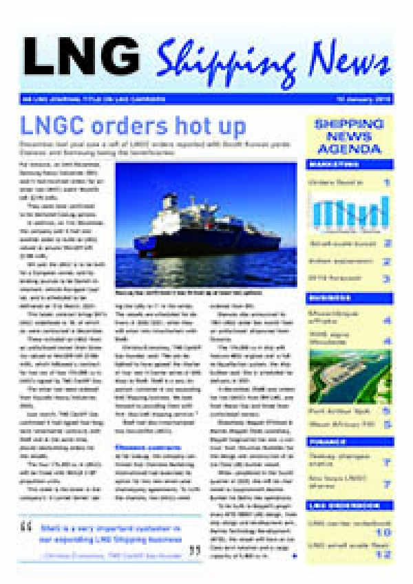 LNG Shipping News - 10 January 2019