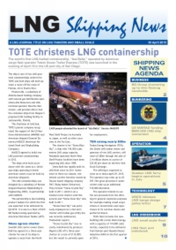 LNG Shipping News - 30 April 2015