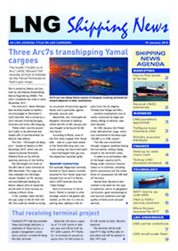 LNG Shipping News - 18 January 2018