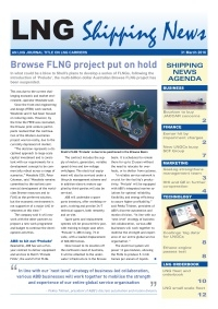 LNG Shipping News - 31 March 2016