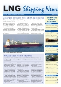 LNG Shipping News - 26 May 2016