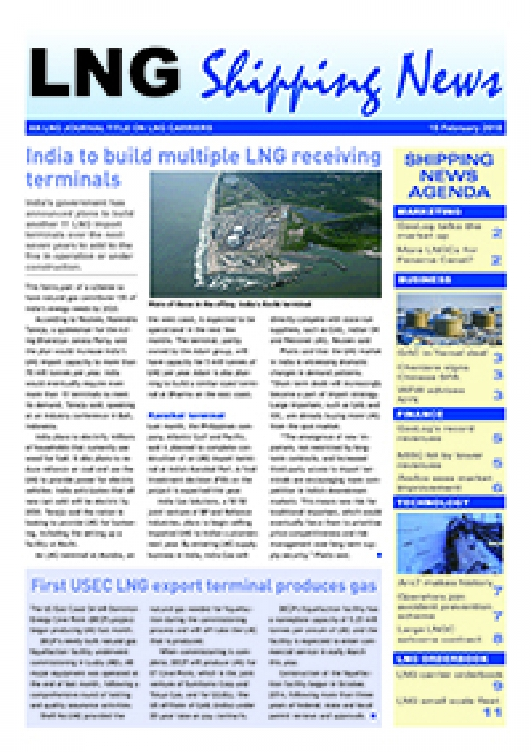 LNG Shipping News - 15 February 2018
