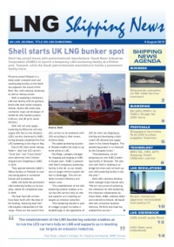 LNG Shipping News - 6 August 2015