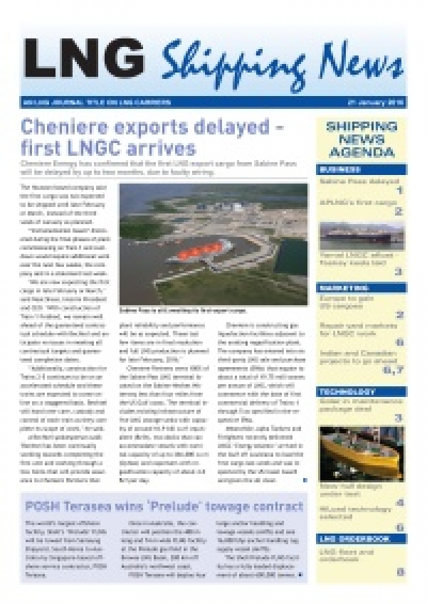 LNG Shipping News - 21 January 2016
