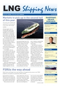 LNG Shipping News - 9 June 2016