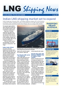 LNG Shipping News - 09 July 2013