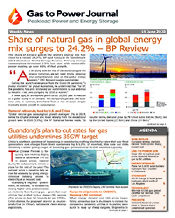 Gas to Power – June 19. 2020