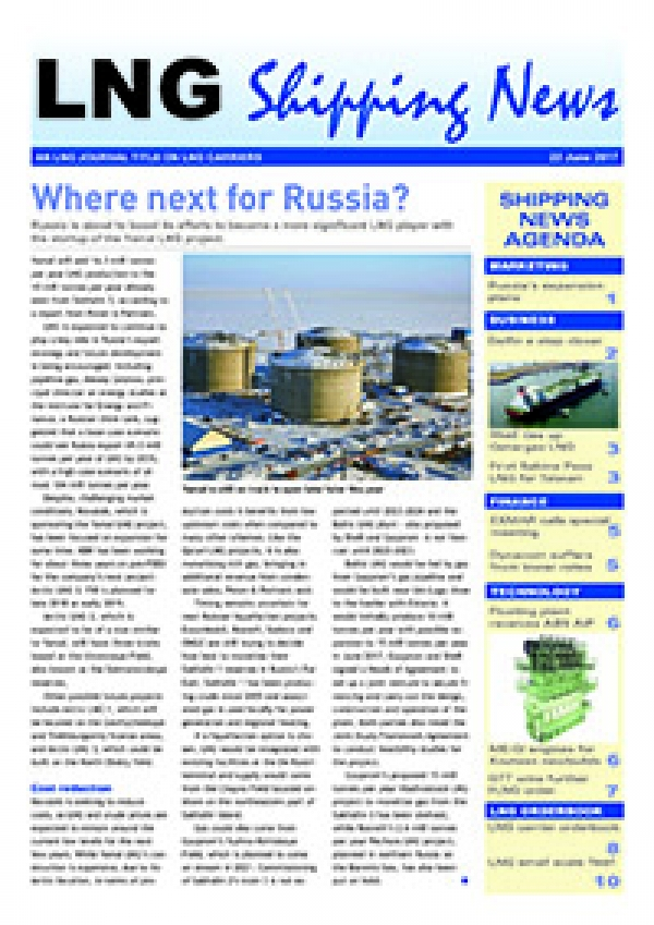 LNG Shipping News - 22 June 2017