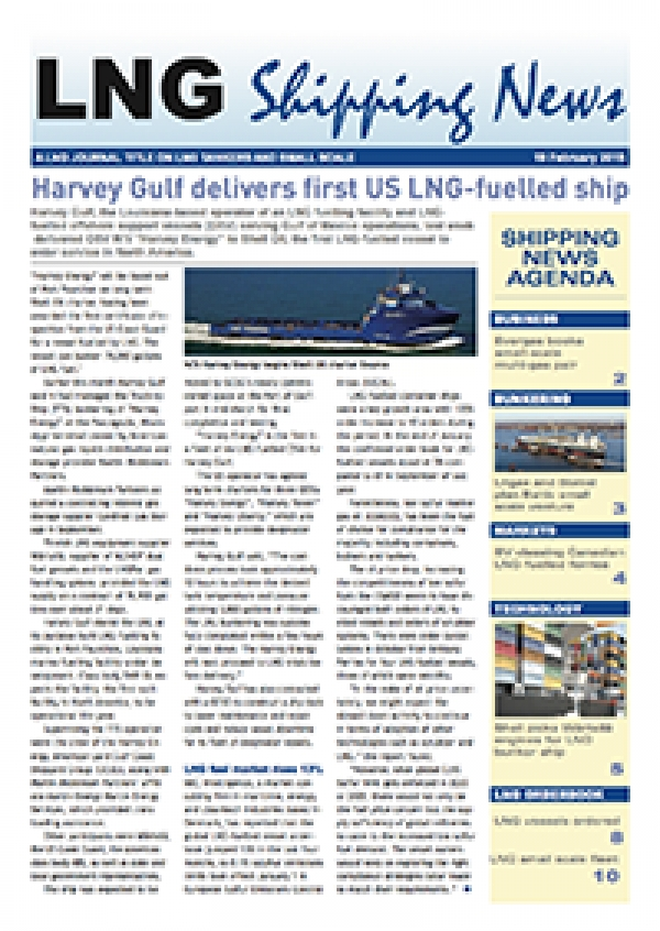 LNG Shipping News - 19 February 2015