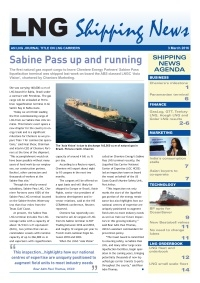 LNG Shipping News - 3 March 2016