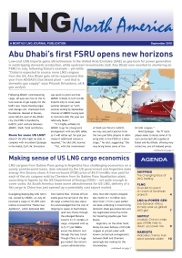 LNG North America – September 2016