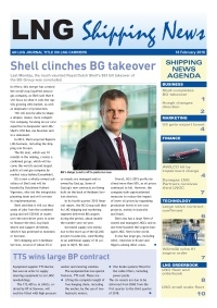 LNG Shipping News - 18 February 2016