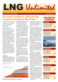 LNG Unlimited – 26 November 2019