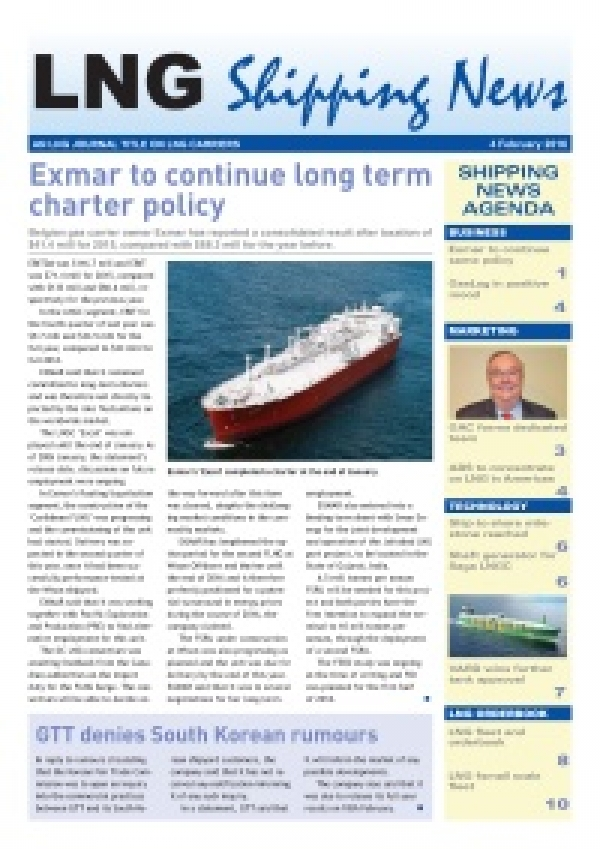 LNG Shipping News - 4 February 2016