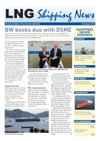 LNG Shipping News - 15 October 2015