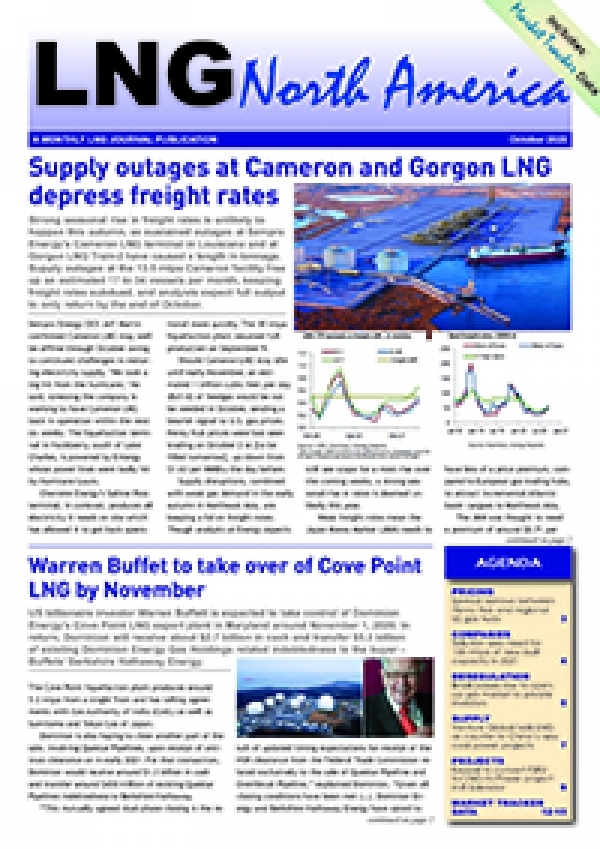 LNG North America – October 2020