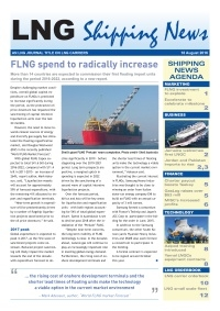 LNG Shipping News - 18 August 2016