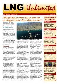 LNG Unlimited – 3 October 2017
