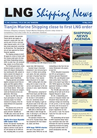 LNG Shipping News - 15 May 2014