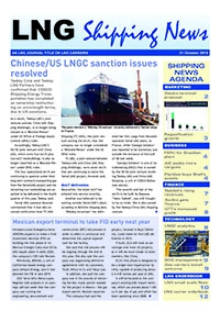 LNG Shipping News - 31 October 2019