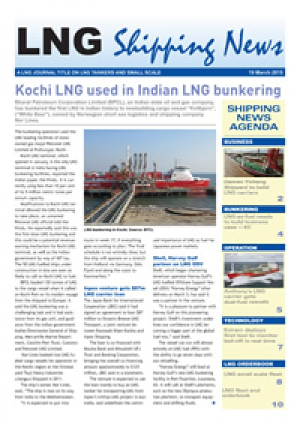 LNG Shipping News - 19 March 2015